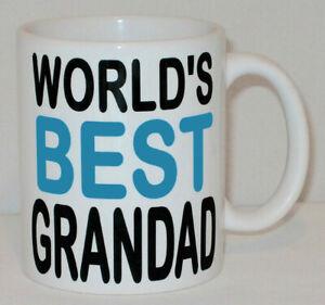 World's Best Grandad Mug AS SEEN ON TV HOLLYOAKS Can Personalise Grandpa Gift
