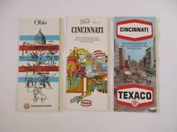 Lot of 2 Vintage Texaco Phillips 66 Cincinnati Ohio Gas Station Travel Road Maps