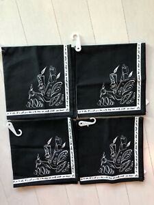 Disney Beauty And The Beast Be Our Guest Chalkboard Napkins Set of 4 NEW