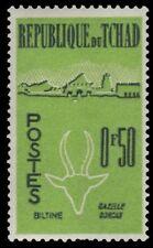 CHAD 70 (Mi69)  - Dorcas Gazelle and Biltine Village (pf35717)