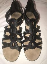 Bare Traps Womens Fergie Open Toe Casual Strappy Sandals, Black, Size 9M