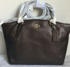 NWT COACH Small Kelsey Satchel Crossbody Bag In Pebble Leather F29867 Bronze