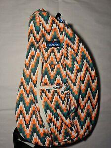 KAVU Rope Bag Backpack Everglade Tile Single Strap backpack knapsack rucksack