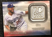 2021 Topps Series 1 Clayton Kershaw 70th Anniversary Commemorative Patch RARE SP
