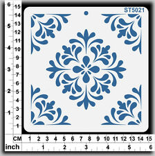 Stencils Templates Masks for Scrapooking, Cardmaking - Tile Pattern ST5021