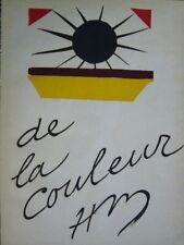 Henri Matisse Lithograph Verve 13 de la Couleur First Edition Mourlot 1945 Rare