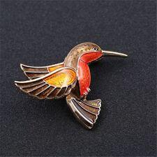 Retro Cute Enamel Hummingbird Brooches for Women Scarf Pins Fashion Jewelry