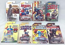 1/64 Hot Wheels Captain America set of 8 Marvel