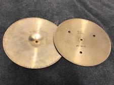 """Vintage Sabian 14"""" FLAT HATS HI hat Drum hihat Cymbals"""