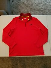 Men's Under Armour Cold Gear 1/4 Zip Sweatshirt Size M Red