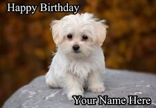 Maltese Dog Birthday Card PIDOA18  A5 Personalised greeting card