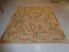 Handmade Kilim rug great quality 8'2''x9 39;10'' wool large carpet