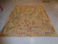 Handmade Kilim rug great quality 8'2''x9&#0 39;10'' wool large carpet
