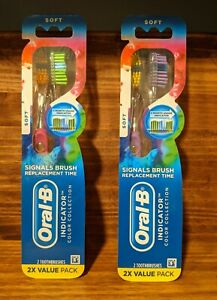 Oral-B Indicator Soft Toothbrush 2 pack, Lot of 2 New in packages, Oral Care