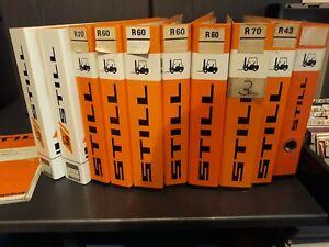 Gabelstapler Ersatzteillisten sowie diverse Microfiche mit Lesegerät