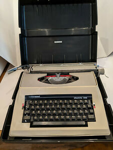 Underwood 555 Electric Portable Typewriter Vintage 1980s W/ Case Tested Working