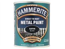 Hammerite HMMSATBL750 Direct to Rust Satin Finish Black 750ml