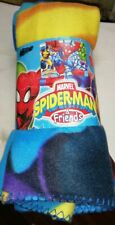 Plaid Coperta Marvel SPIDERMAN & FRIENDS 140x120 cm Spider-Man Wolverine Hulk