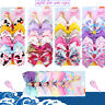 "5"" Cartoon JoJo Siwa 6pcs Unicorn Hair Bow With Alligator Clip Girl Kids Bowknot"