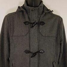 Forever 21 Wool Toggle Jacket Duffel Duffle Coat Hooded TwentyOne Men Sz M EUC