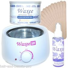 AZULENE hard FILM wax brazilian HAIR REMOVAL waxing kit can pot wax heater oil