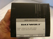 NEW Polarized Oakley SI/SF BATWOLF Cerakote Mil Spec Green Frame Black Iridium