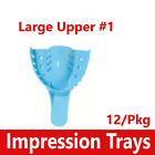 Dental Impression Trays Perforated Plastic Autoclave (CHOOSE SIZE) (1 Bag of 12)