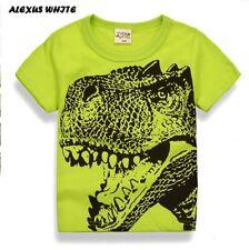 Cartoon Dinosaur T Shirt Boys Summer Children's Clothing Toddler 100% cotton