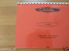 C0501 CASAL---CATA'LOGO DE PECAS---K185-MODELYEAR ABOUT-