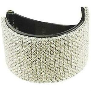 Ladies Girls Diamante Sparkly Round Small Pony Tail Holder Banana Clip Claw