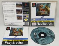 Warpath Jurassic Park PS1 Sony Playstation 1 Complete PAL Black Label GREAT DISC