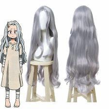 My Hero Academia ERI Cosplay Wig Girl Long Curly Wave Gray Hair Full Wigs