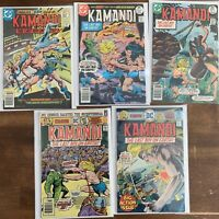 Lot Of (5) Kamandi The Last Boy On Earth DC Comics 1975