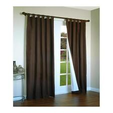 "Ranger Indoor Thermal Curtain Panel 80"" X 63"" Chocolate"
