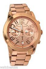 Michael Kors Mercer Rose Gold Stainless Steel Chronograph Analog Watch MK5727