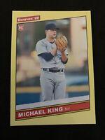MICHAEL KING 2020 Donruss Rookie Yellow Dollar Tree 86 Parallel #256 Yankees