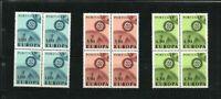 Portugal - 1967 Europa - SG 1312-14 blocks of 4 MNH CV £58.00