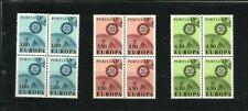 Portugal - 1967 Europa - SG 1312-14 blocks of 4 MNH