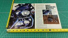 1988 Harley-Davidson 883 Sportster 6-Page Article, Impression, Specs, Photos