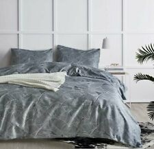 Dcp Bedding Comforter Sets Bed in a Bag Warm and Soft,Grey Leaf, Queen,5-piece