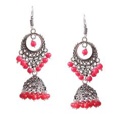 Traditional Silver Plated Oxidized jhumka Jhumki Second Design Earrings #O