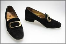 Suede Heels Vintage Shoes for Women
