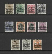 Poland - Small lot of 1918 Warsaw overprinted  German Occupation issues.