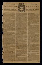 BENJAMIN FRANKLIN POSTMASTER PENNSYLVANIA GAZETTE 1753 PRINTED BY BEN FRANKLIN