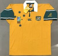 Authentic Canterbury Wallabies 2003 Rugby World Cup Home Jersey. BNWT, Size L.