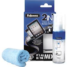 FELLOWES 2-in - 1 pulito e polacco kit include 125ml Screen Cleaner con micro