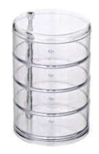 WENKO Kosmetik Organzier Tower Transparent, 4 Fächer Kosmetik Box Bad Kosmetik