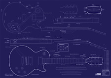 Gibson Les Paul® Custom Guitar Decorative Blueprint - A0 size
