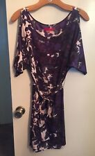 Saks Fifth Avenue RED Label Cocktail Dress Purple/Multi-colored Pattern Size S