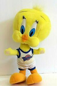 Vintage WB 1996 Tweety Bird Tune Squad Space Jam Plush w Basketball Uniform